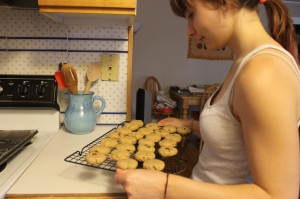 Rose holding the cookies...