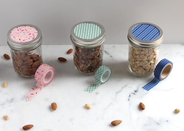 Jars with washi