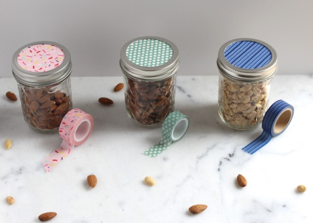 Jars with washi