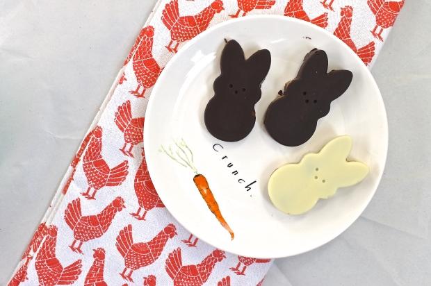 Peanut butter bunnies on crunch plate