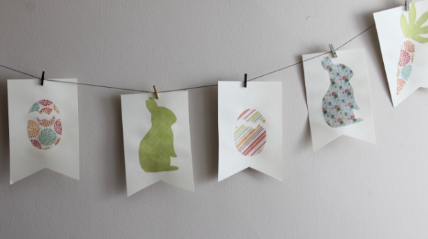bunny bunting flags