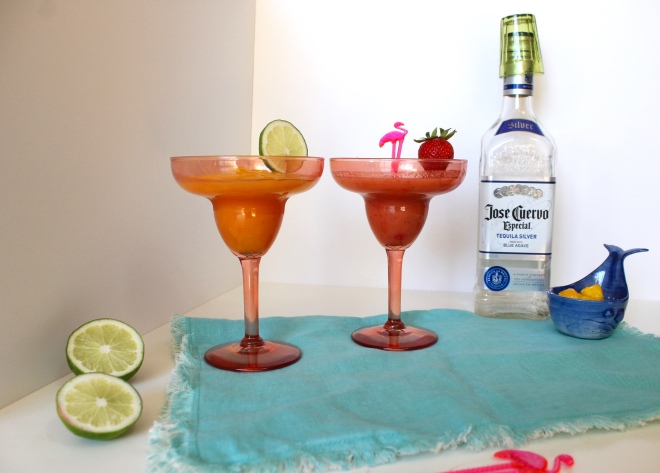 Strawberry and Mango Margaritas