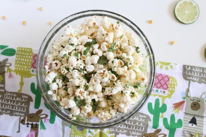 Cilantro lime popcorn