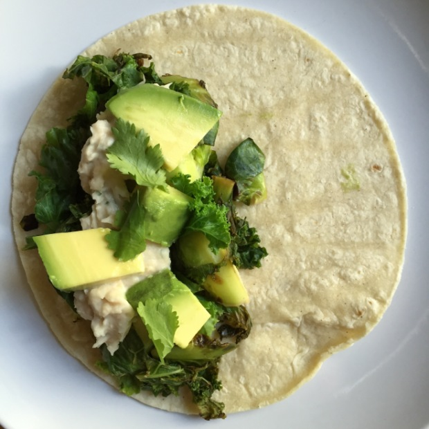 Brussel sprout taco