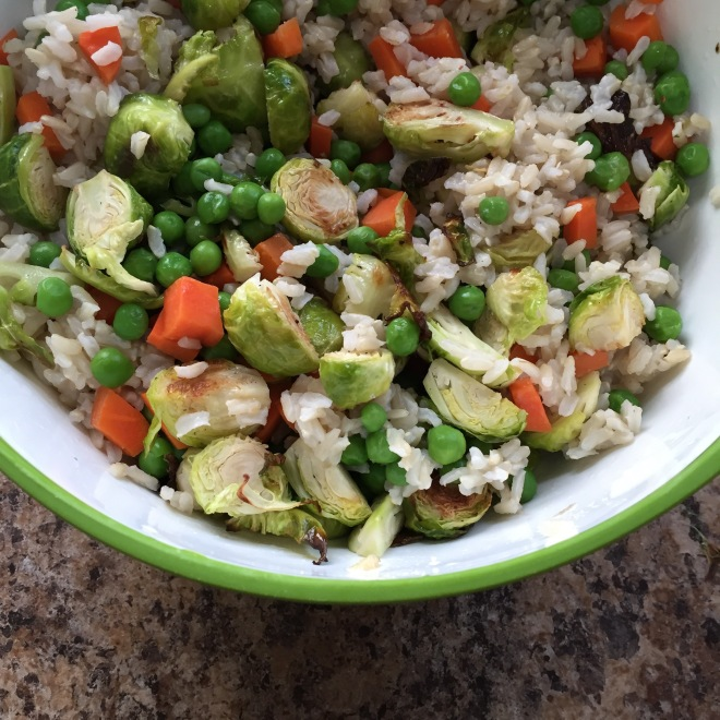 Brussels sprouts salad with walnut sauce