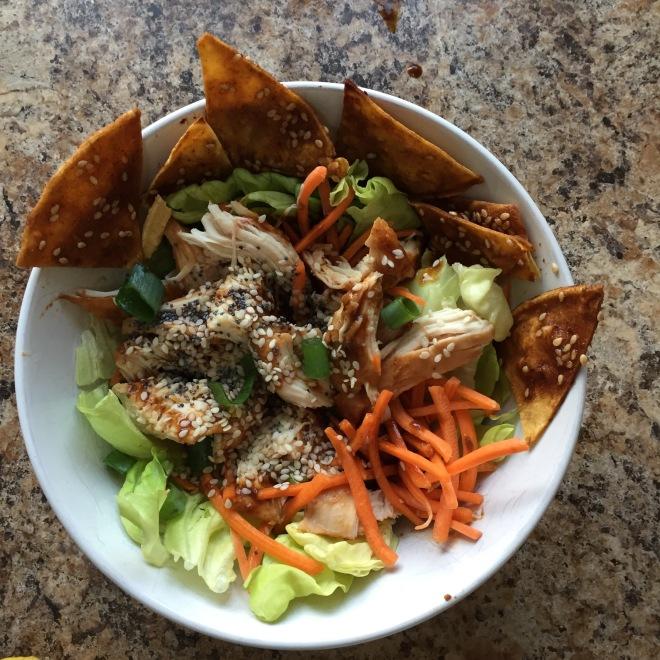 BBQ chicken Asian salad
