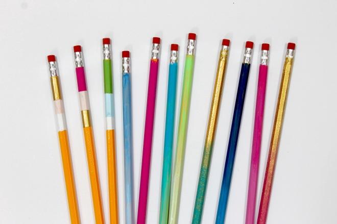 DIY Painted Wooden Pencils