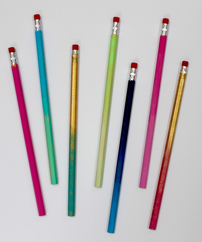 DIY Ombre Painted Wooden Pencils