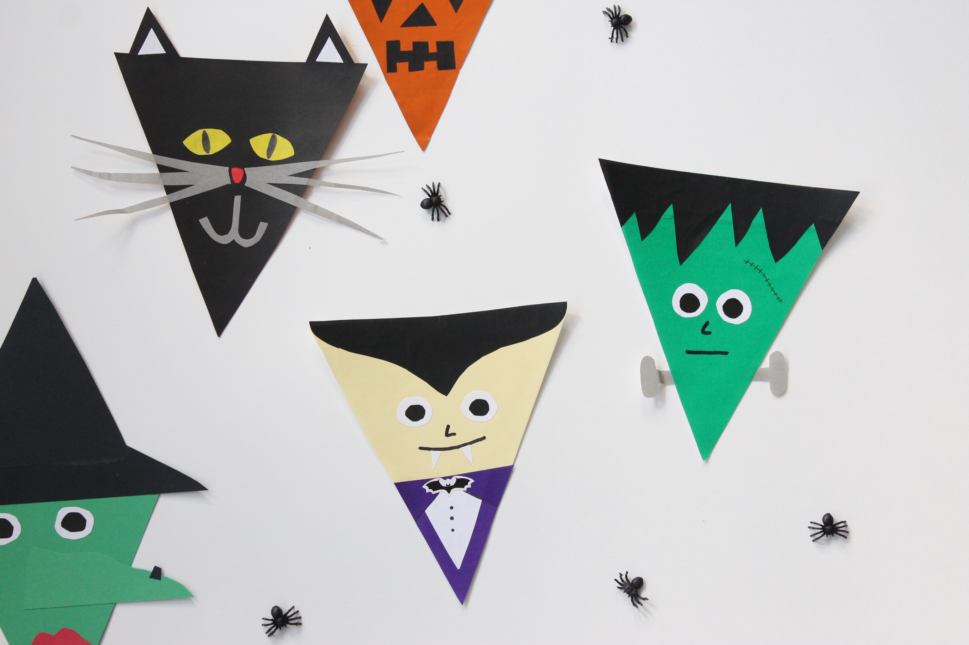 Halloween Bunting printable halloween trick or treat bunting pennant banner flags instant download Halloween Bunting Flags Popcorn Chocolate
