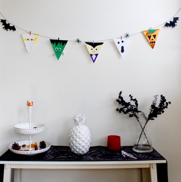 Halloween Bunting Flags   Popcorn & Chocolate