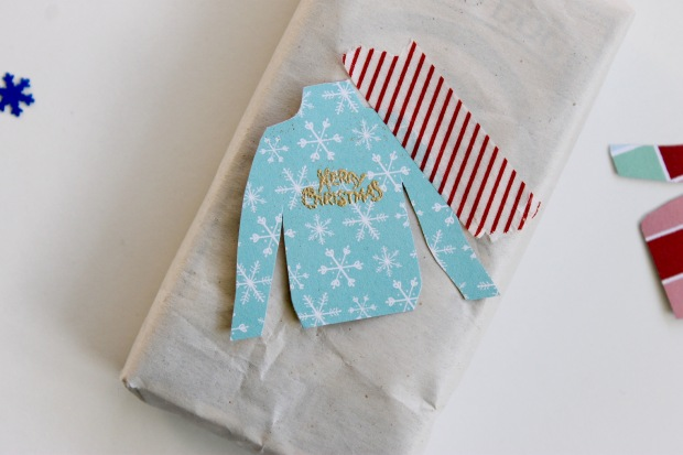 Ugly Christmas sweater gift tags