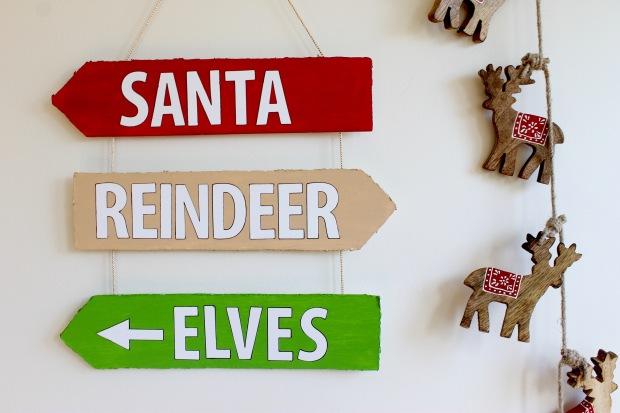 DIY Christmas sign