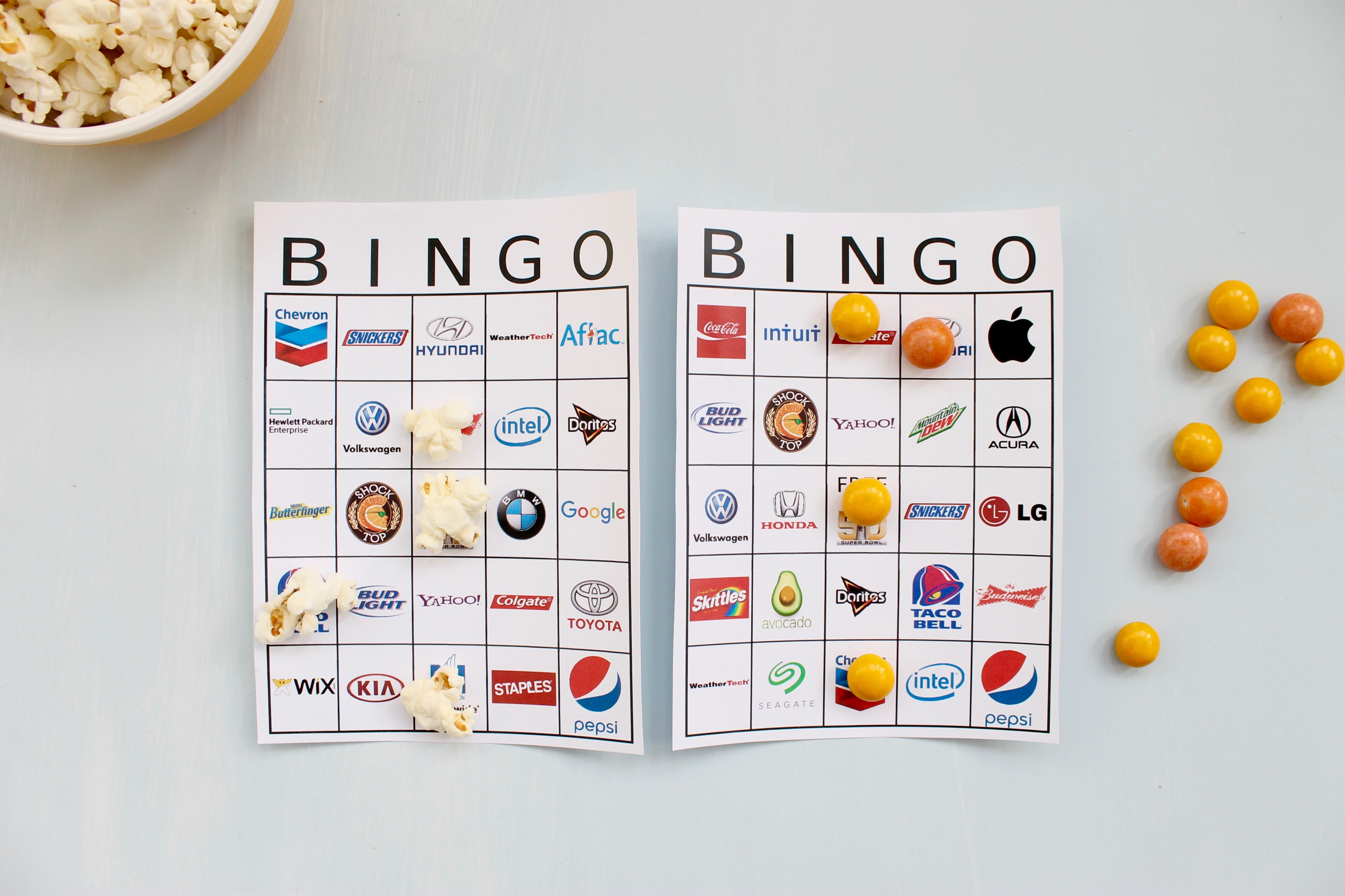 photo regarding Printable Super Bowl Bingo Cards named Printable Tremendous Bowl 50 Professional Bingo Playing cards - Had been Shifting