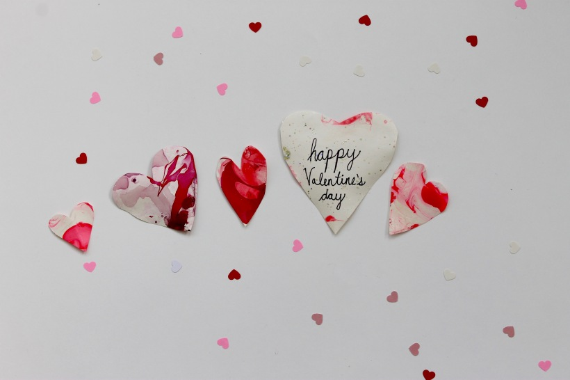 DIY Valentine's Day Marbled Hearts | Popcorn & Chocolate