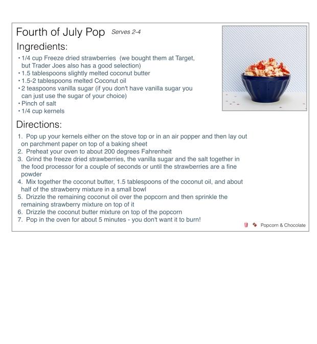 4th of July popcorn recipe | Popcorn & Chocolate