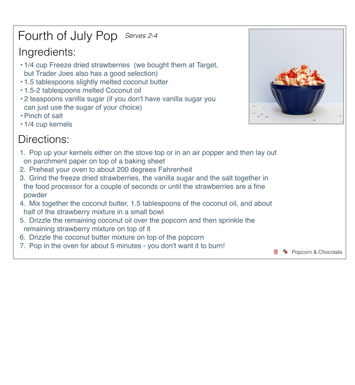 4th of July popcorn recipe | Popcorn & Chocolate