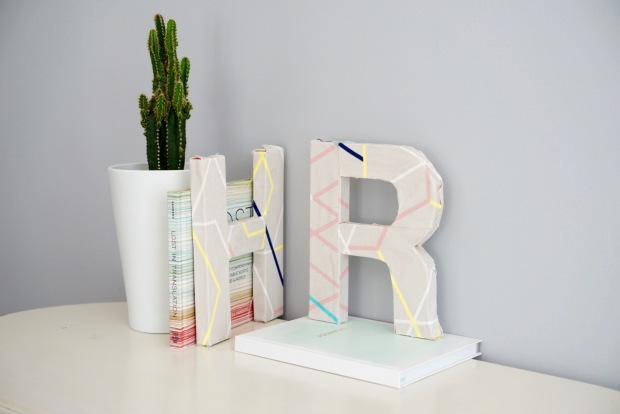 Fabric covered letters | Popcorn & Chocolate
