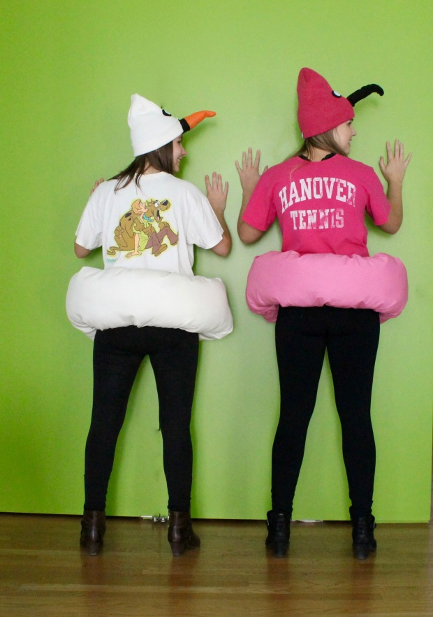 Flamingo and swan pool float costume | Popcorn & Chocolate