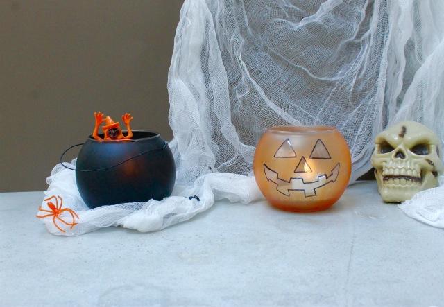 DIY Halloween candle holders | Popcorn and Chocolate