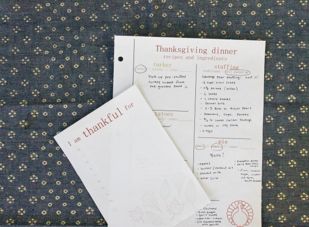 Thanksgiving printable | Popcorn & Chocolate