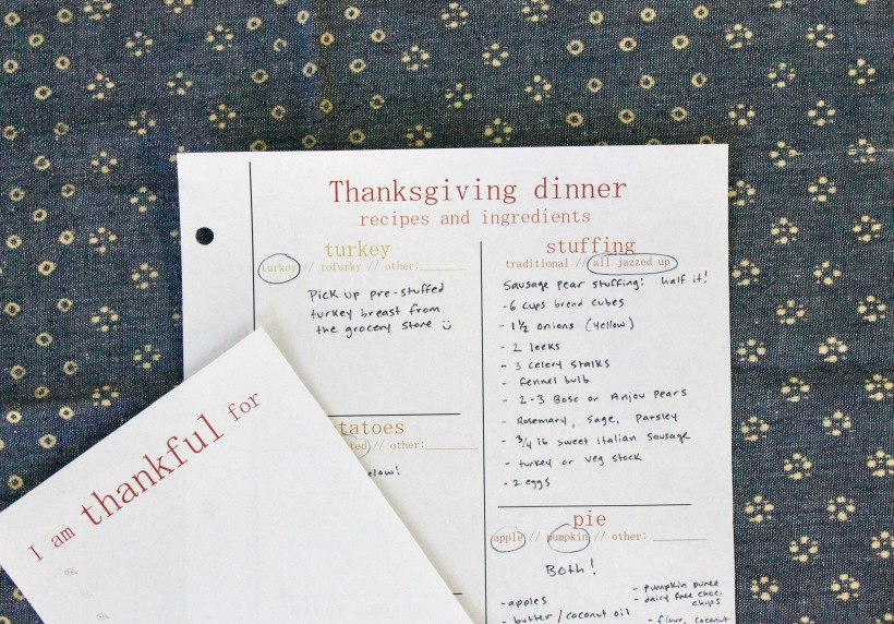 thanksgiving holiday printable | Popcorn & Chocolate
