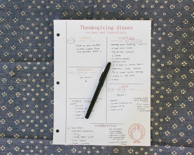 Thanksgiving shopping list | Popcorn & Chocolate