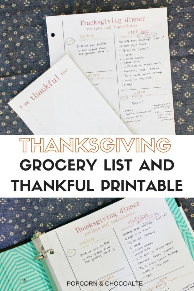 Free Thanksgiving Printables | Popcorn & Chocolate