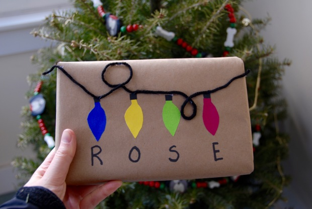 Christmas lights gift wrap   Popcorn and Chocolate