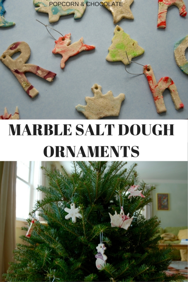 Marble Salt Dough Ornaments | Popcorn and Chocolate