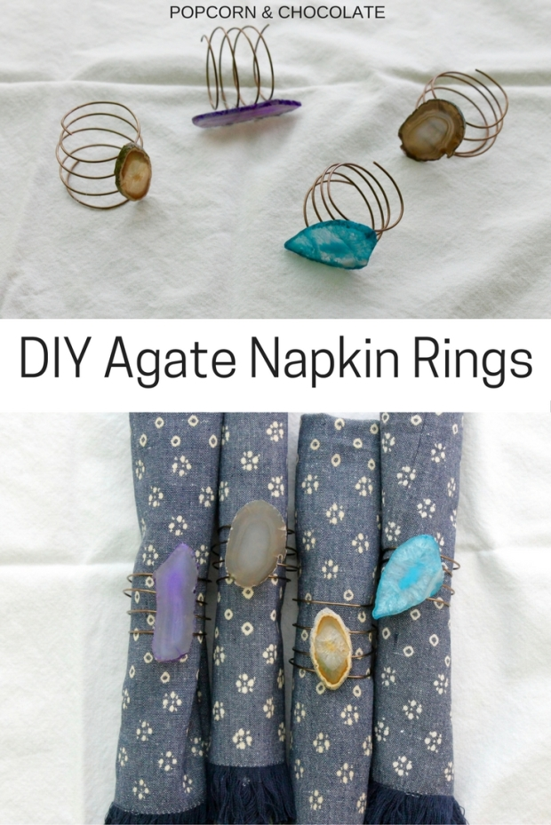DIY Agate Napkin Rings | Popcorn and Chocolate