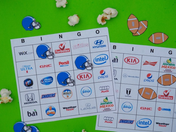 Super bowl 51 commercial bingo