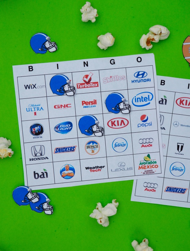 Free Super bowl LI bingo boards
