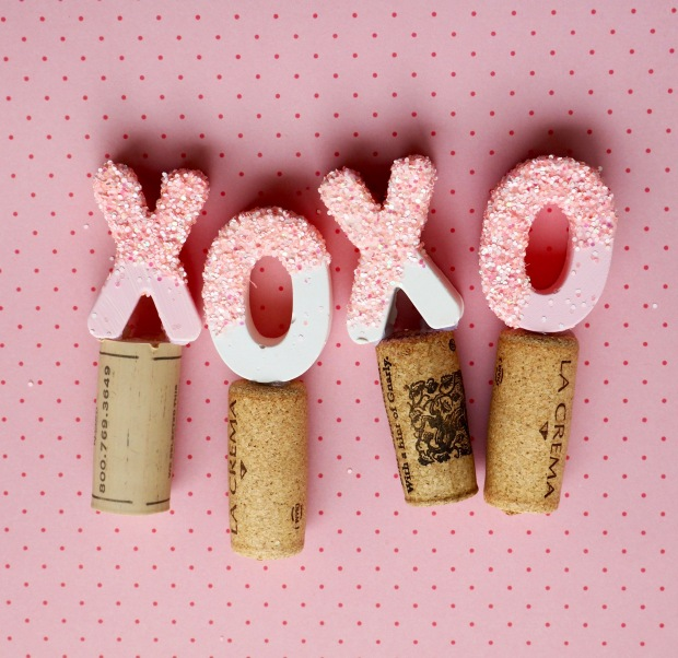 DIY XO Wine Stoppers | Popcorn and Chocolate
