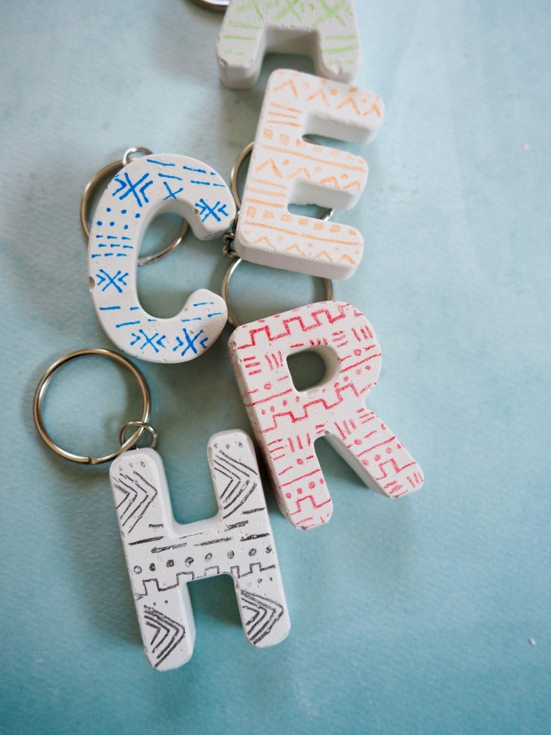 DIY Mud Cloth Plaster Keychains | Popcorn and Chocolate