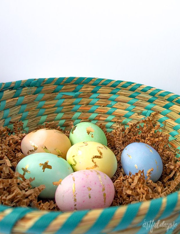gold-leaf-easter-eggs