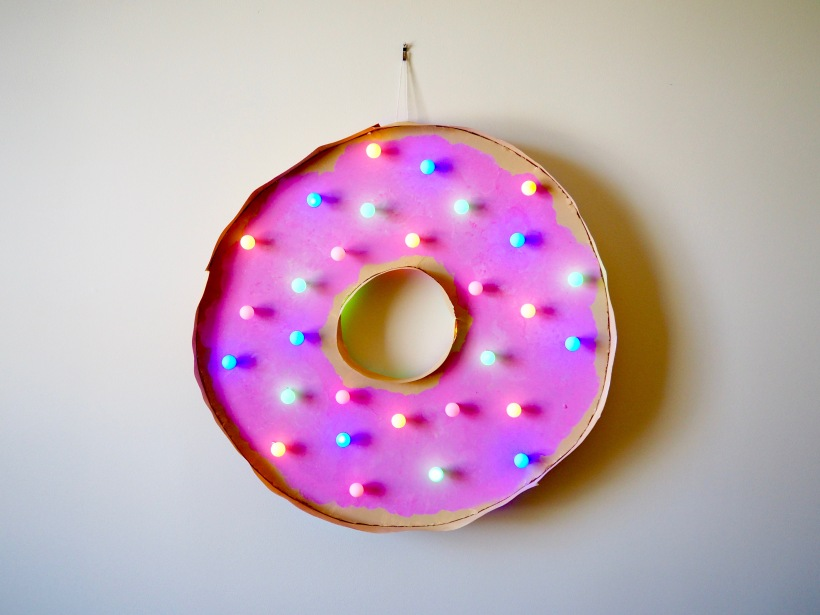 DIY Doughnut marquee by Popcorn and Chocolate